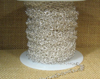 Medium Circle Chain - Silver Plated - CH107 - Choose Your Length