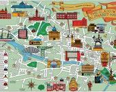 The Glasgow Alphabet Map - A2 (A5 folded)
