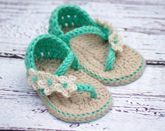 Crochet Baby Pattern Sandals - Carefree Sandals number 219 Instant Download