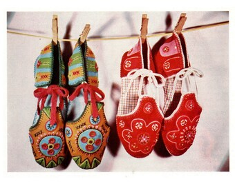 Embroidered Cloth Slipper Sandal Pattern for Women Instant Digital Download