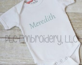 Embroidered infant one-piece or T Shirt