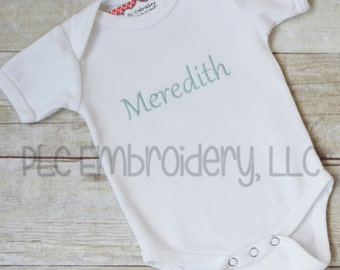 Embroidered Infant Bodysuit or T Shirt - Personalized Infant Bodysuit - Baby Gift