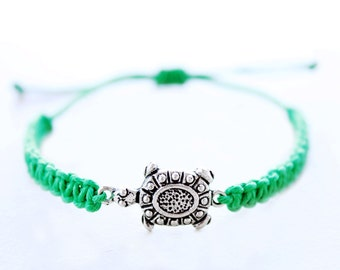 Turtle Hemp Bracelet - Hemp Jewelry