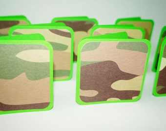 Camo Card, 3x3 Card Military, Navy Card, Camouflage Card, Soldier Card, Blank Card 3 x 3 Army, Military Card, Army Card, Note Card Soldier