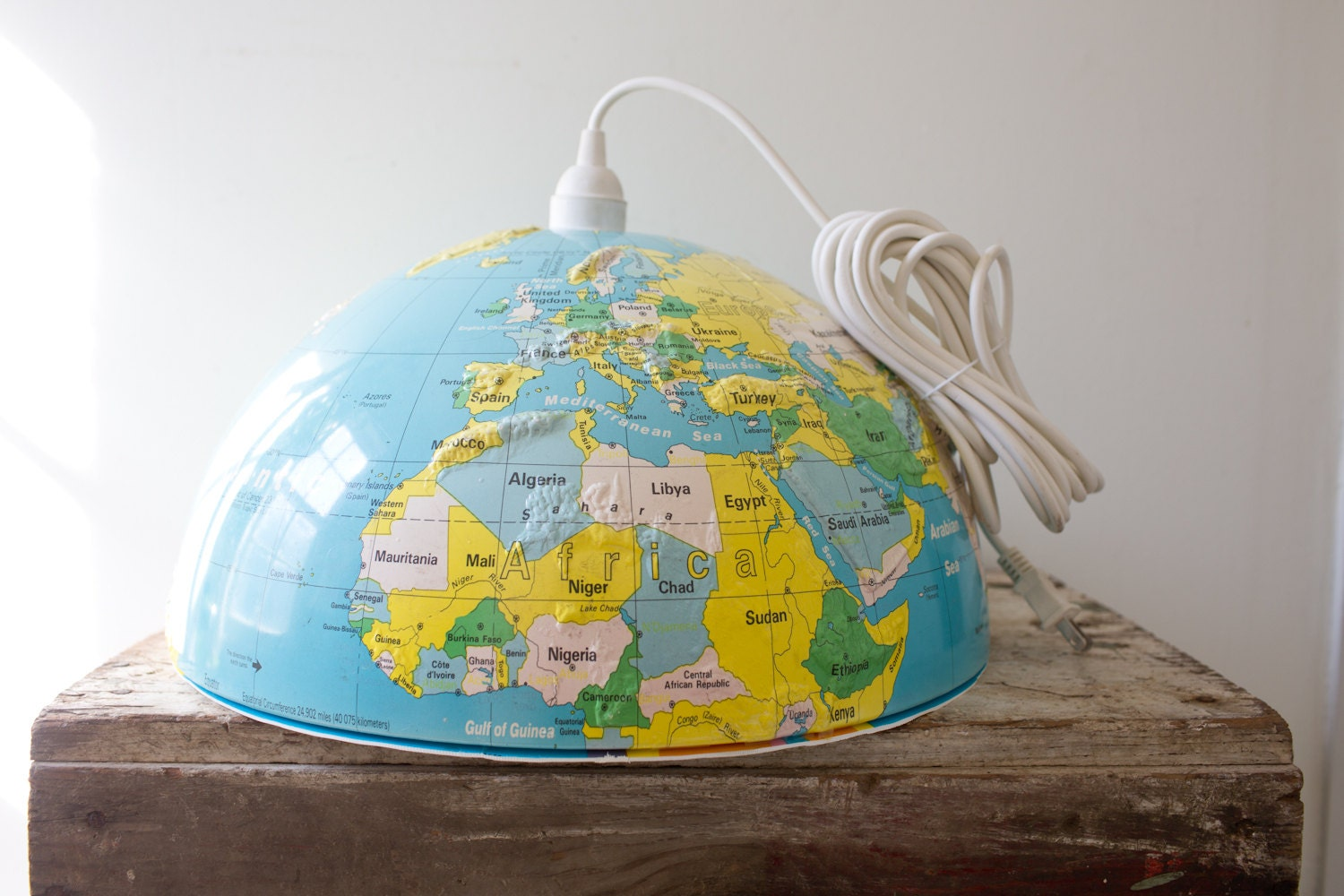 Vintage Globe Light Fixture Globe Lamp Shade World Light