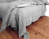 Quilt Doona Cover Taupe Gray color pure Linen Flax - Washed Softened Medium weight - Single Double Queen King - Australian size - VILENDALinen