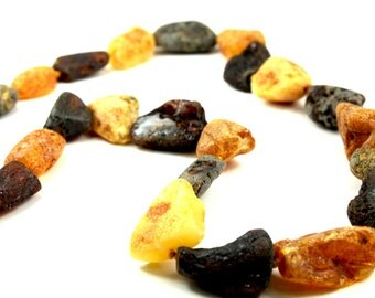 Baltic Amber Necklace Raw Beads
