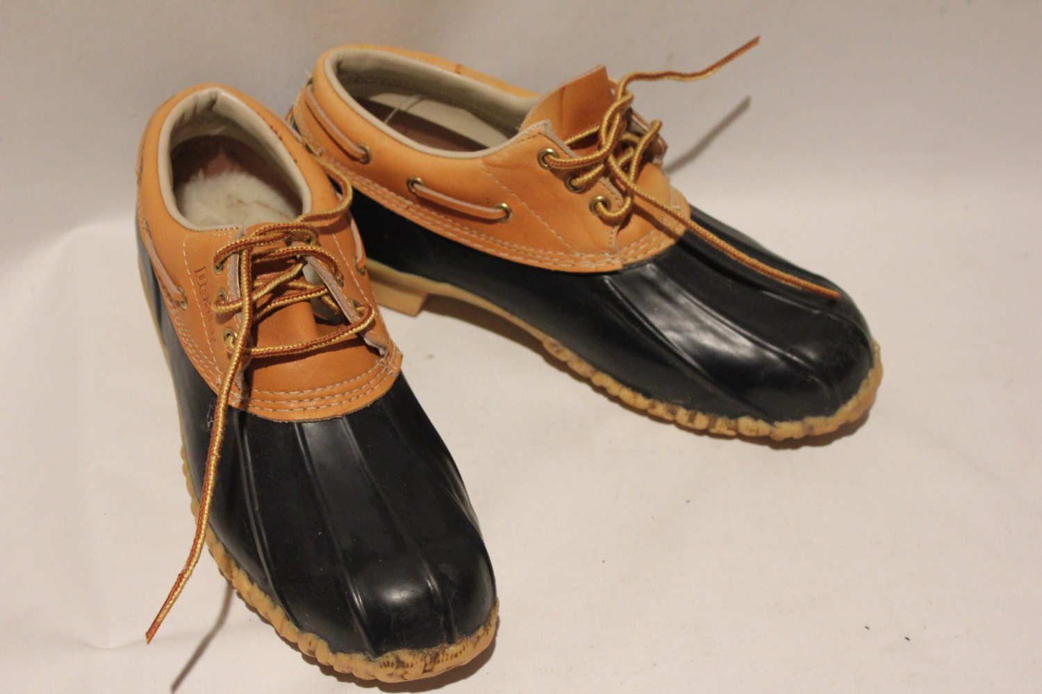 Vintage Womens Dexter Duck Shoes Rubber Boots Galoshes