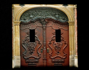 Double Switchplate Cover - Ornate Doors