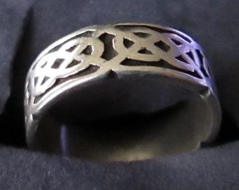 Vintage Sterling Celtic Knot Ring Ortak of Scotland Size 5.5