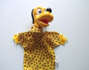 Vintage Pluto Puppet Toy 1960s
