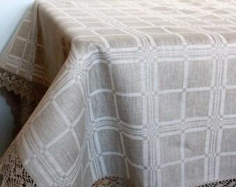 Linen Tablecloth Tablecloths Gray Linen Table Gray Tablecloth Large Tablecloth Linen Table Cloth Square Tablecloth Linen Lace