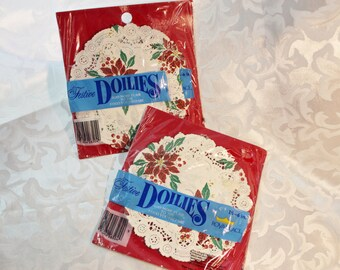 Vintage Royal Lace Paper Christmas Doilies 2 Packages