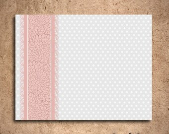 Pink and Grey Polka Dot Notecards (set of 10) - Featured in the GBK 2012 Golden Globes Celebrity Gift Lounge
