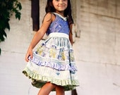 Caroline Twirl Dress PDF Pattern Tutorial,  Ebook, Epattern, Sizes 2T-10 years included.