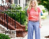 Whitney Misses Pleated Trousers  PDF Pattern and Tutorial, All sizes 2- 16 Included