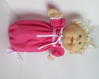 """14"""" Baby Cabbage Patch Bright Pink Nightgown"""