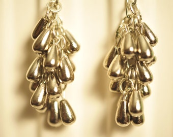 SALE Handmade Vintage Silver Drop Earrings