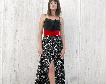 Vintage Skirt gorgeous velvet cut out