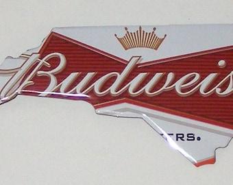 NORTH CAROLINA (NC) Shaped Magnet - Budweiser Beer Can