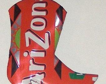 WESTERN BOOT Magnet - Arizona Soda Can