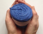 Cotton yarn, hand dyed yarn, deep blue, double knit DK *SALE 25% OFF*