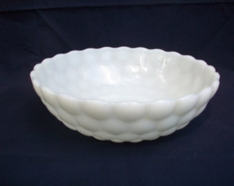 Elegant Anchor Hocking Milk Glass Bowl