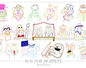 M is for MUPPETS - Alphabet Drawing