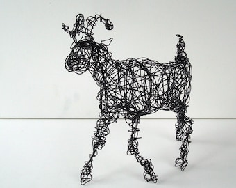 Unique Wire Animal Sculpture - BIGHORN SHEEP