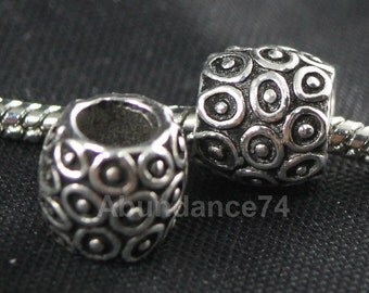 1 piece 925 Sterling Silver European Bead Charm / Spacer -  3.6g, 10mm EB0143