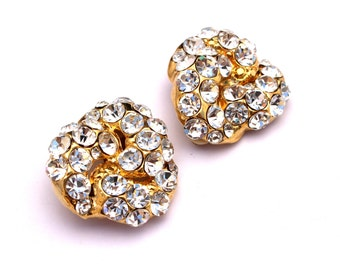 Vintage Runway GIANT Hollywood Clip On Earrings High Fashion