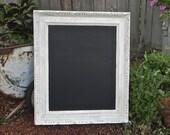 White Framed Shabby Chic 16 x 20 Chalkboard/Blackboard, Made to Order Chalkboard, Wedding Chalkboard, Photo Prop Chalkboard