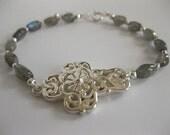 Labradorite - Sterling Silver Bracelet - 3095