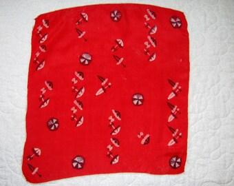 Vintage silk parasol scarf