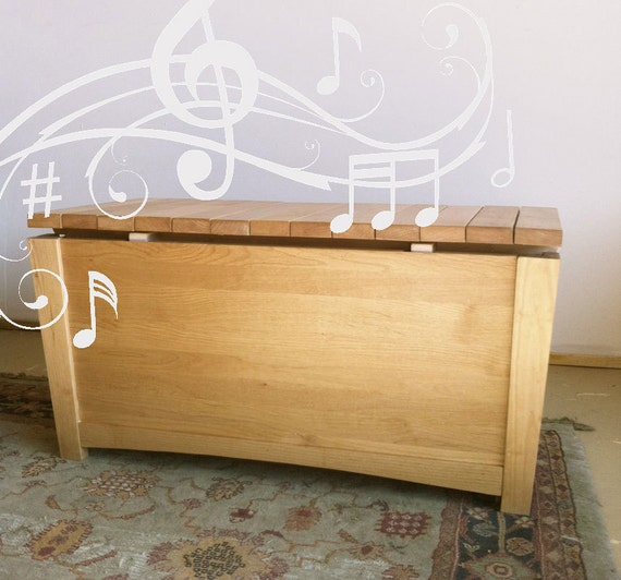 cedar chest, musical toy chest, xylophone storage chest, wooden ...