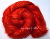 PIXIE DUST - Flame - hand dyed, luxurious super-kidmohair yarn