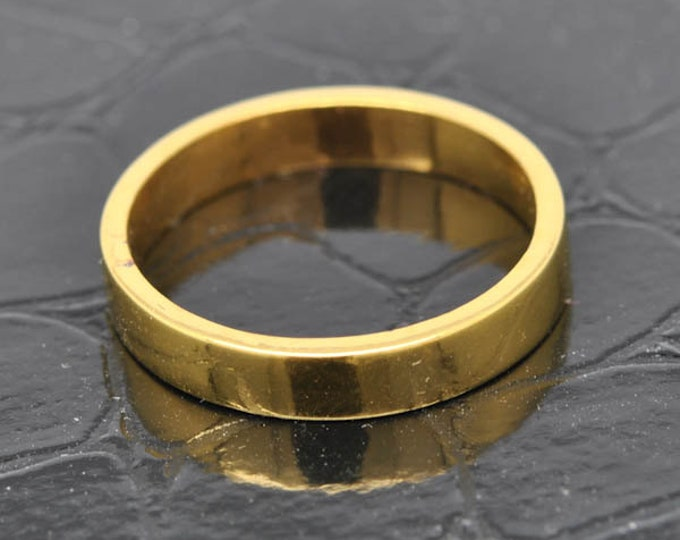 14K Yellow Gold Ring, 2mm x 1.5mm, Wedding Band, Wedding Ring, Yellow Gold Band, Flat Band, Square Band, Size up to 6