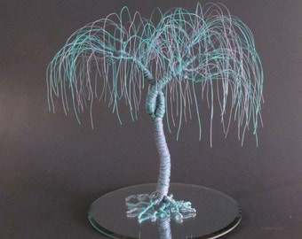 """Custom Color Wire Tree Wedding Cake Topper """"When Two Become One"""""""