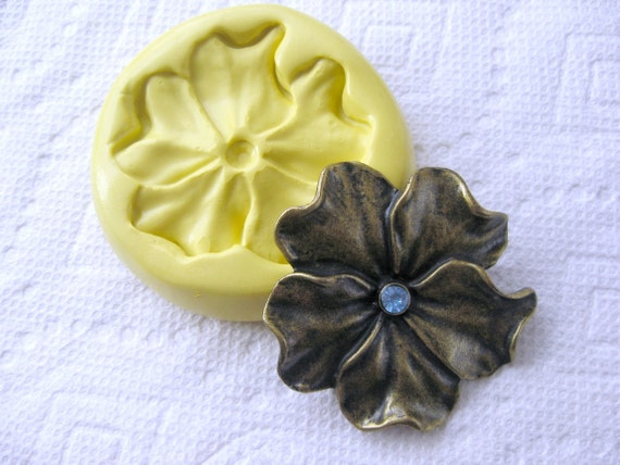 Large hibiscus flower mold Food quality flexible silicone push mold of flower
