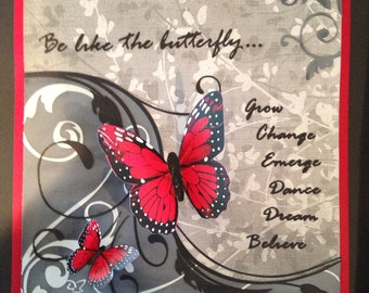 Be Like the Butterfly Paper Illustration