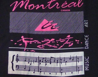 Vintage 80s Montreal Canada Black T-Shirt