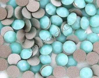10 pcs SS34 Swarovski Flatbacks Mint Alabaster  (7.0-7.2 mm) 2028 Xilion 34ss