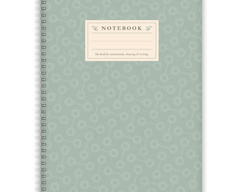 Notebook A4 - Turqoise-Pattern