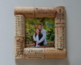 Wine Cork Picture Frame Magnet