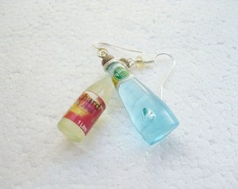 Health Drink Bottle Earrings.