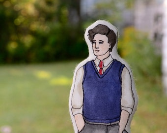 Anne of Green Gables Art Doll. Gilbert Blythe. Hand-painted embroidered cloth doll by alyparrott on Etsy.