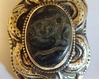 Nice Snake Pendant in Tibetian Silver