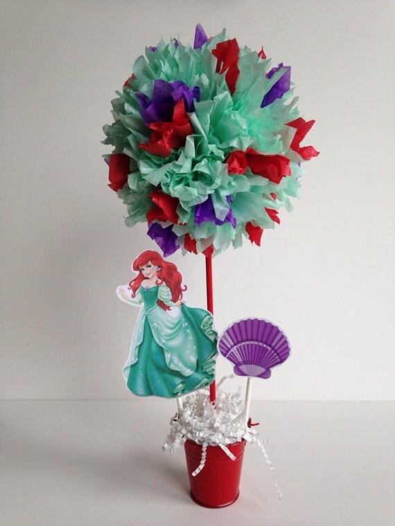 Princess ariel birthday party decoration centerpiece for Ariel decoration