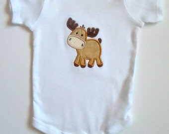 Baby Moose Personalized One Piece Bodysuit