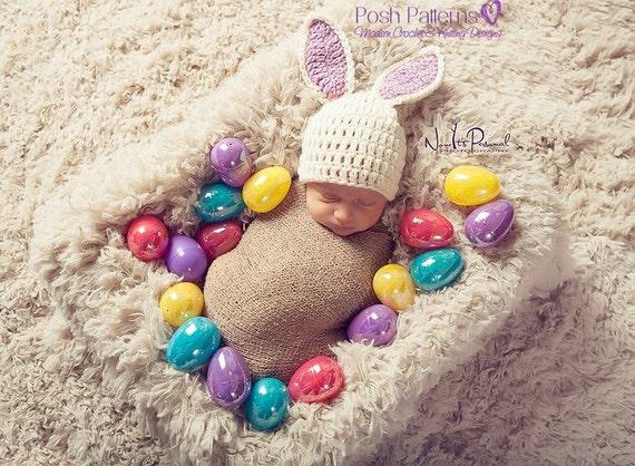 Crochet PATTERN - Crochet Bunny Pattern - Crochet Hat Pattern - Crochet Bunny Hat - Includes Newborn, Baby, Toddler Sizes - PDF 163